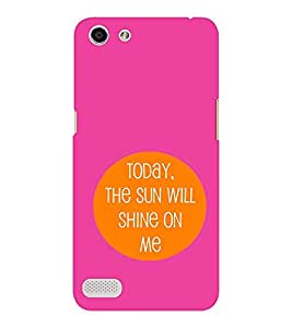EPICCASE Sunshine Mobile Back Case Cover For OPPO Neo 7 (Designer Case)