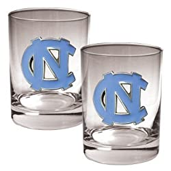 North Carolina Tar Heels - UNC 2 Piece Rocks Glass Set NCAA College Athletics
