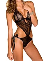 SUNNOW Hot Sexy Lingerie bodystocking ouvert jumpsuit Dos Nu Lace Lingerie