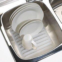 Umbra In-Sink Dish Drying Rack, Translucent White