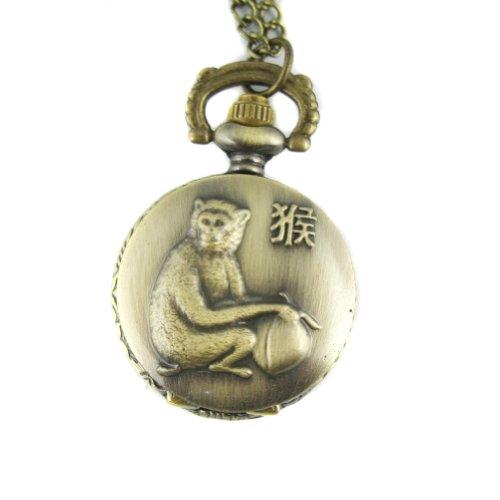 mapofbeauty-bronze-chinese-zodiac-monkey-pattern-case-quartz-pocket-watch