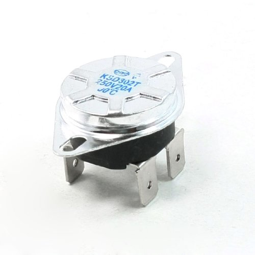 80 Celsius Nc. Ksd302T Vertical Mount Temperature Control Switch Ac250V 20A