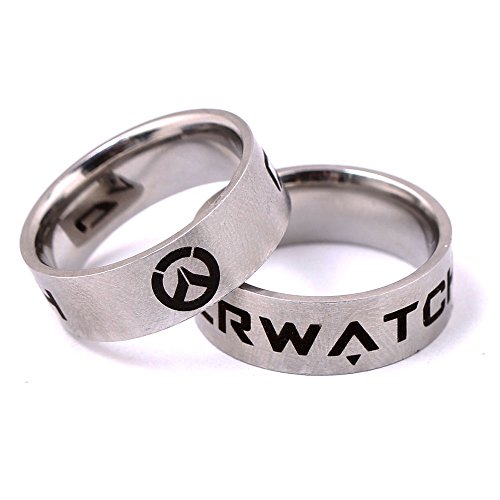 1pc Hot PS4 Game Overwatch Logo Fashion Alloy Rings Cosplay Rings 4 Size for Choose
