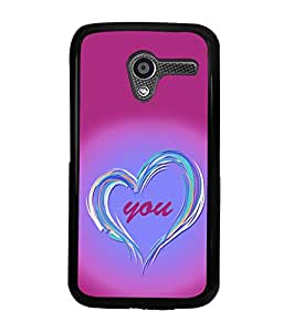 printtech Love You Back Case Cover for Motorola Moto X XT1058::Motorola Moto X (1st Gen)
