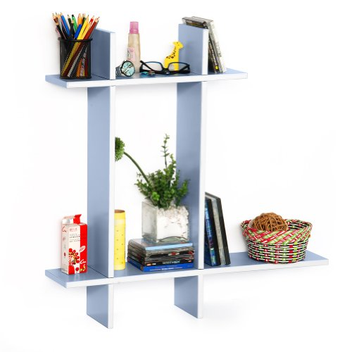 Trista - [Touch The Sky-B] Leather Cross Type Shelve / Book Shelve / Floating Shelve (4 Pcs) front-644692