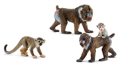 Schleich Affen Set, Schleich Wildtiere - Set bestehend aus