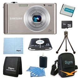 Samsung 8 GB Bundle ST76 16 MP 5X Compact Digital Camera - Silver