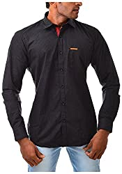 Casinova Men's Satin Casual Shirt (3002_A-Large, Brown, Large)