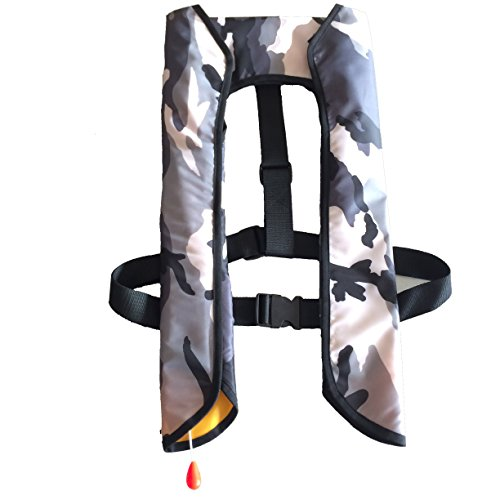 Eyson® Inflatable Life Jacket Life Vest Basic Manual (709 WhiteCamouflage)