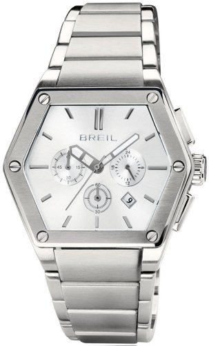 Breil Men's Watch Analogue Quartz TW0650 Silver Stainless Steel Strap Silver Dial