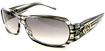 $260 Authentic GUCCI Black Glitter Logo Sunglasses 2935