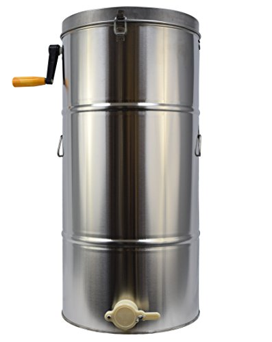 New Two 2 Frame Stainless Steel Bee Honey Extractor SS Honeycomb Drum (BEE-V002B) (Electric Honey Extractor compare prices)
