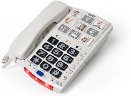 Telefono per casa saiet photo phone tasti grandi con foto - Telefoni a parete ...