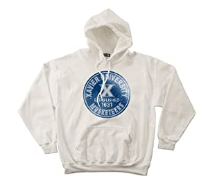 NCAA Xavier Musketeers 50 50 Blended 8-Ounce Vintage Circle Hooded Sweatshirt,... by SDI