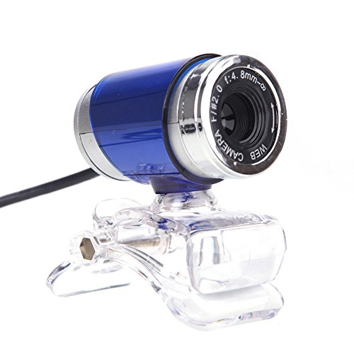 Generic USB 2.0 Clip-on 360 Degree 50 Megapixel Web Cam With MIC For Desktop Blue