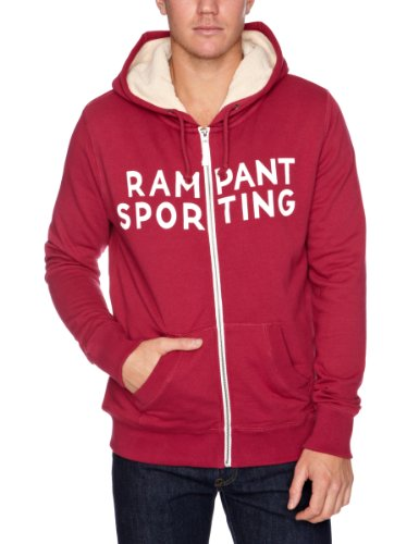 Rampant Sporting Sherpa Zip Through Men's Hoodie Anemone LargeLargeRampant Sporting Sherpa Zip Through Men's Hoodie Anemone LargeRampant Sporting Sherpa Zip Through Men's Hoodie