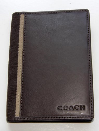 Coach   Coach Heritage Leather Passport Travel Cover Case Mahogany Brown F74417 New with Tag