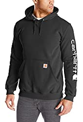 Carhartt Men's Signature Sleeve Logo Midweight Sweatshirt Hooded
