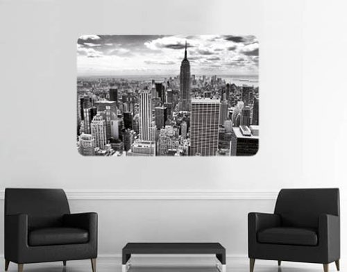 Style & Apply - Nyc Black & White - Wall Decal, Sticker, Mural Vinyl Art Home Decor
