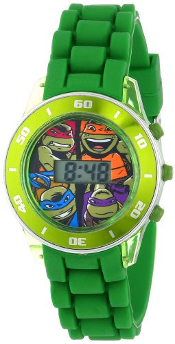 Nickelodeon Kids' TMN4008 Teenage Mutant Ninja Turtles Watch with Green Rubber Band - 1