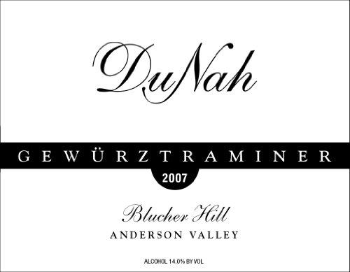2007 Dunah Vineyard & Winery Gewürztraminer Blucher Hill Anderson Valley 750 Ml