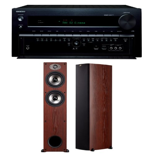 Onkyo Tx-Nr838 7.2 Channel Networking Home Theater Receiver Plus (1) Pair Of Polk Audio Tsx 330T Floorstanding Speakers In Cherry