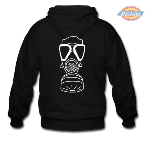 Spreadshirt, Gasmaske, Men's Hoodie by Dickies, black, M