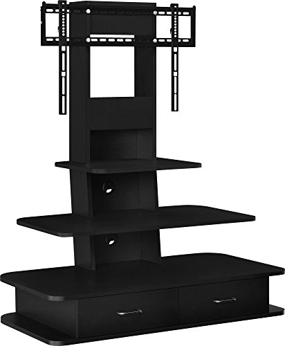 "Altra Furniture Galaxy TV Stand with Mount & Drawers, 70"", Black"