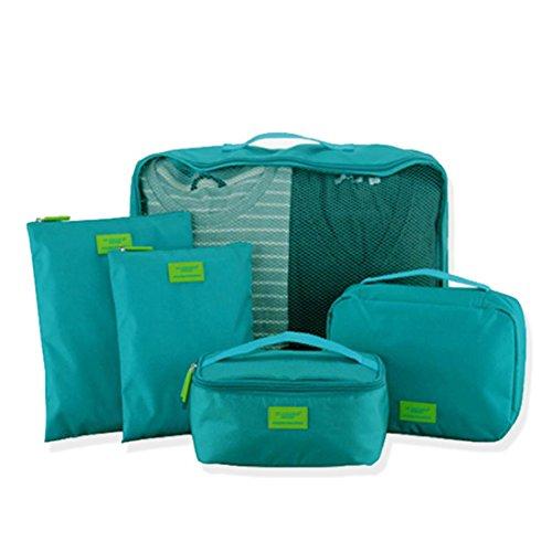 almacenamiento-equipaje-viaje-camping-ropa-cosmeticos-zapatos-calcetines-7-pcs-rojo
