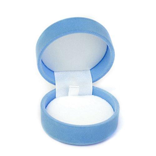 Necklace Jewelry Display Storage Box Gift Case Holder Organizer - Sky Blue Snowflake