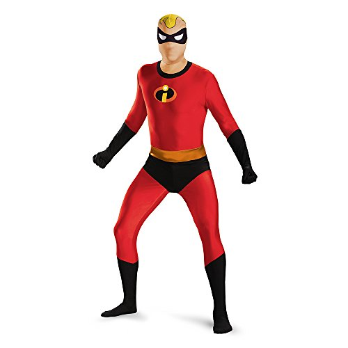 Disguise Men's Mr. Incredible Bodysuit Skinovation Teen Costume