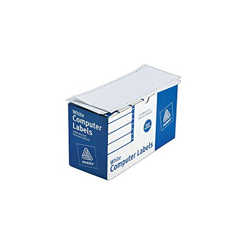 Avery Continuous Form White Computer Labels for Pin-Fed Printers, 4 x 1.9375 Inches, Box of 5000  (4022)