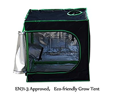 Quictent SGS Approved Eco-friendly Reflective Mylar Hydroponic Grow Tent with Heavy Duty Anti-burst Zipper and waterproof Floor Tray for Indoor Plant Growing from Quictent