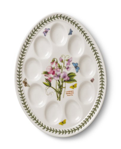 Portmeirion Botanic Garden Devilled Egg Dish 12-Inch (Devilled Eggs Plate compare prices)