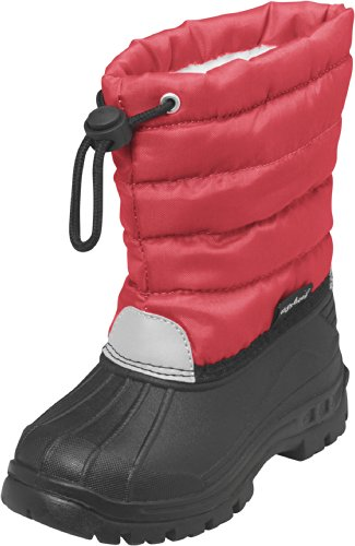 Playshoes Winterstiefel, Moonboots, Schneeschuhe für Kinder, mit Warmfutter, Scarponi da neve imbottiti, a mezza gamba unisex bambino, Rosso (Rot (rot 8)), 24/25 EU (7.5 Kinder UK)