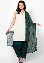 Castle Women's Salwar With Dupatta (Aqua Green_Free Size)
