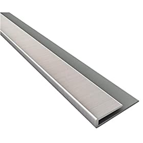 "Fasade 923-29 Edge J-trim, 18"", Nickel (Pack of 5)"