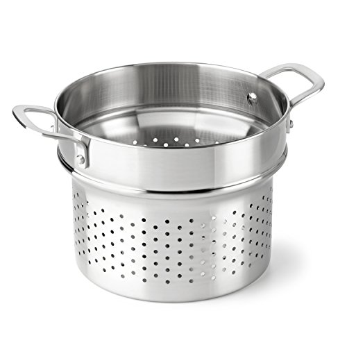 Calphalon Classic Stainless Steel Cookware, Steamer Insert, 6-quart to 8-quart (Colander Steamer compare prices)