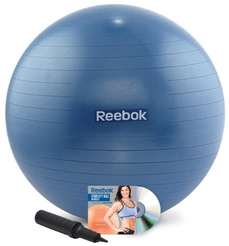 Balance Ball Dvd: Reebok 75cm Stability Ball Kit With DVD