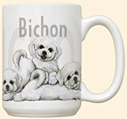 Bichon Frises Puppy Puppies Large 15oz Ceramic Mug