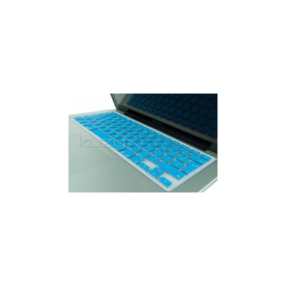 Kuzy®   EU/UK AQUA BLUE Keyboard Silicone Cover Skin for Macbook / Macbook Pro 13 15 17 Aluminum Unibody / Macbook Air 13 (European/ISO Keyboard Layout)