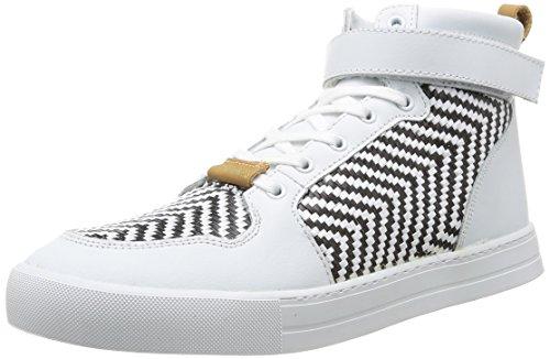 Eleven Paris  Sneaker Raf,  Sneaker uomo Bianco Blanc (Black&White) 42