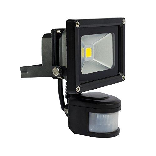 HonestEast 10W Led Motion Sensor Light, PIR Security Flood Light, 700lm, 6000k, Daylight White, Smart Basement Floodlight, 80w Halogen Bulb Equivalent, PIR Floodlight