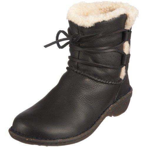 UGG Australia Women's Caspia Casual Shoes,Black Leather,5 US