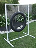 Dog Agility Equipment – Tire Jump, Weave Poles, Single Jump & Tunnel – Beginners Bundle / Package