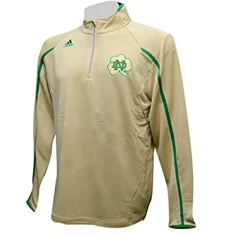 Notre Dame Fighting Irish Adidas Shamrock Series Coaches 1 4 Zip Pullover Gold by adidas