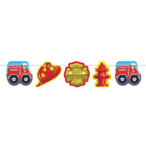 Creative Converting Firefighter Party Garland (Fire Engine Party Supplies compare prices)