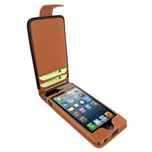 Great Price Apple iPhone 5 / 5S Piel Frama Two-Tone Leather Cover with Snap Closure