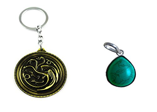Eshoppee house targaryen keychain for cars and bikes with free pandent