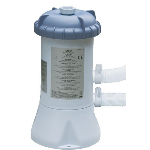 Intex Krystal Clear 2000 L/hr (530 gals) filter pump suitable for 8ft/10ft/12ft pools by Intex